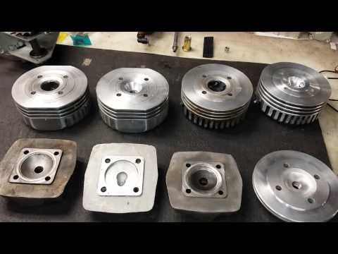 Cylinder head designs for te 80cc / 66cc 2-stroke Chinese bicycle engine