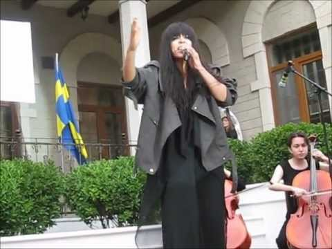 Eurovision 2012: Loreen (Sweden) performing Euphoria at Villa Petrolea in Baku
