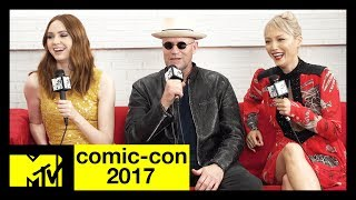 Guardians of the Galaxy Vol. 2's Karen Gillan, Michael Rooker, & Pom Klementieff | Comic-Con 2017 - MTV