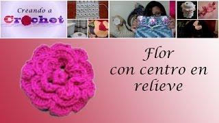 Flor Con Centro En