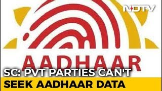 Aadhaar constitutionally valid, rules Supreme Court, adds conditions - NDTV