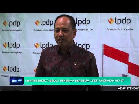 Menristekdikti Bekali Penerima Beasiswa LPDP Angkatan ke 37