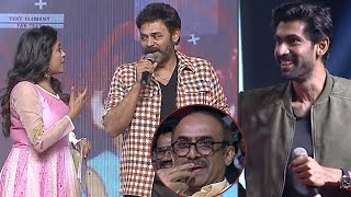 Venkatesh HILARIOUS Comments On Anchor Suma @ Venky Mama Musical Night Event | Naga chaitanya - TFPC
