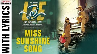 Miss Sunshine Song With Lyrics | Lie Songs | Nithiin , Megha Akash | Mani Sharma | Hanu Raghavapudi - ADITYAMUSIC