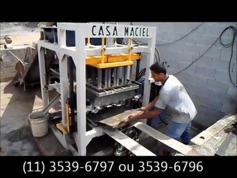 Máquina para fabricar blocos de concreto