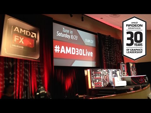 Time-Lapse: #AMD30Live Stage Build