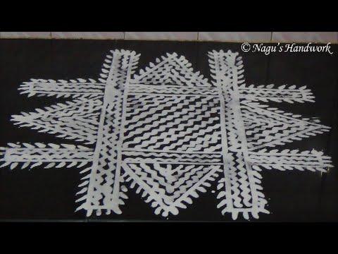 Arisi Maavu Kolam 2 - Rangoli Designs By Nagu's Handwork