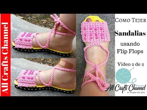 Como Tejer Sandalias en crochet ( VIdeo 2 de 2)