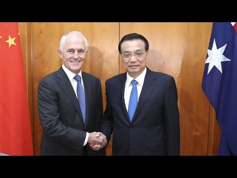 China, Australia voice support for free trade
