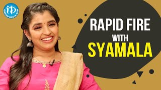 Rapid Fire With Anchor Syamala | iDream Telugu Movie | Celebrity Buzz With iDream - IDREAMMOVIES