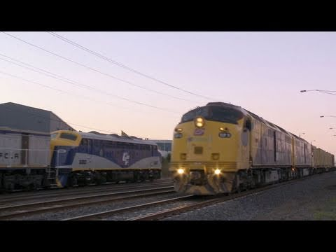 Container Train with CLP class Diesel Locomotives -  EMD Locomotives & Trains by PoathTV