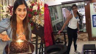 Actess Pooja Hegde Burning Birthday Fat In Gym | Pooja Hegde Workout|  Tollywood Updates - RAJSHRITELUGU