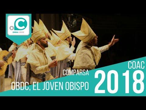 Sesión de Preliminares, la agrupación OBDC. El joven obispo actúa hoy en la modalidad de Comparsas.