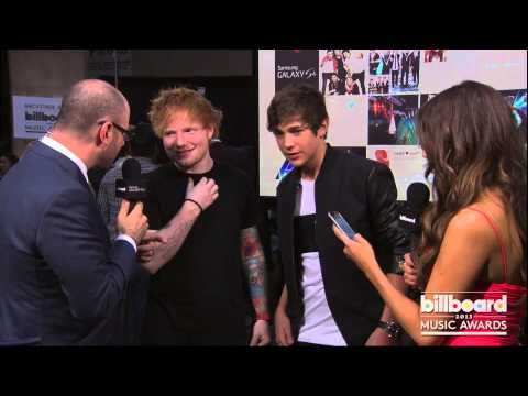 Ed Sheeran Backstage at the Billboard Music Awards 2013