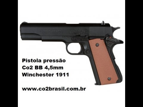 Pistola de Pressão Co2 Daisy Winchester 1911 BBs 4,5mm co2brasil