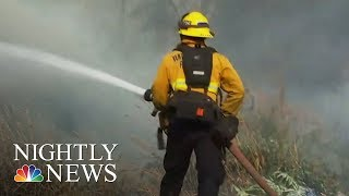 More Than 4,000 Firefighters Battling Wildfires In Santa Barbara County | NBC Nightly News - NBCNEWS