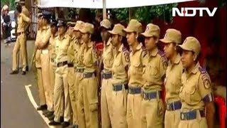Heavy Police Including Women Personnel Deployed At Sabarimala Base Camp - NDTV