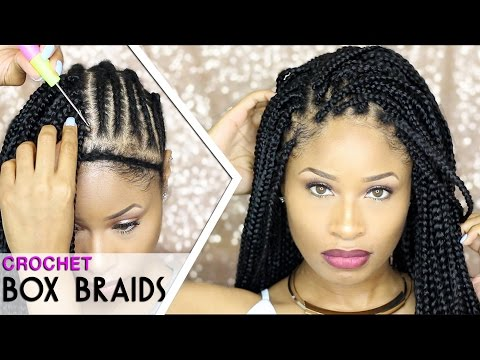 How To ➟ CROCHET BOX BRAIDS 🔥 (looks like the real thing! free-parting)