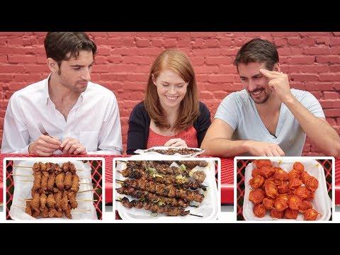 Americans Try Filipino Street Food