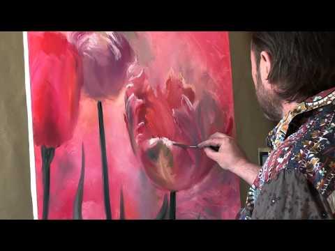 Живопись мастер класс тюльпаны