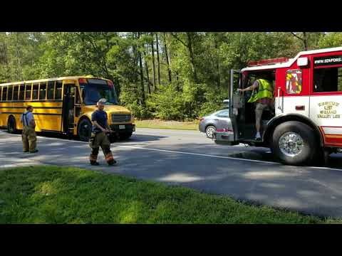 School bus rear ended in Leonardtown Md @TheBayNet.com