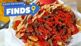 Flamin' Hot Cheeto Burrito and Fries | Food Network Finds - FOODNETWORKTV