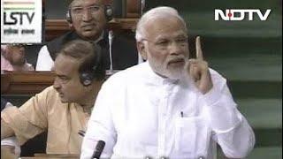पिछली सरकारों में देश पर चुनाव थोपे गए : लोकसभा में पीएम मोदी - NDTVINDIA