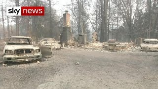 Number of dead set to rise as California wildfires rage - SKYNEWS