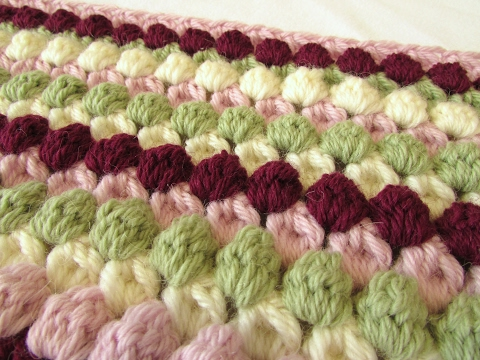 VERY EASY crochet bobble stitch blanket / afghan tutorial