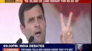 Rahul Gandhi lands in soup Vadra - NEWSXLIVE