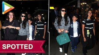 SPOTTED: KARISHMA with her mother BABITA & CUTTIE SAMAIRA AND KIAAN at AIRPORT - HUNGAMA