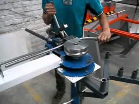 dobladora de tubos manual