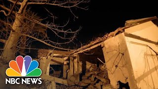 Gaza Rocket Shatters House In Israeli City, Trapping Woman | NBC News - NBCNEWS