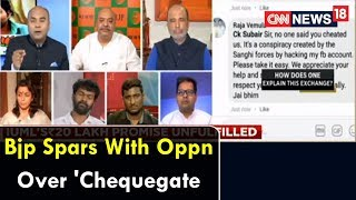 #VemulaPoliticised: Bjp Spars With Oppn Over 'Chequegate' | Viewpoint | CNN News18 - IBNLIVE