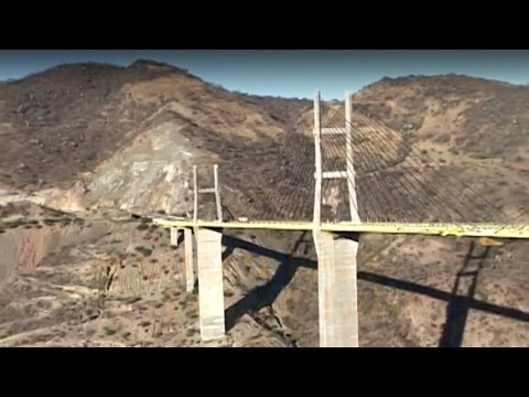 Base Jump off a Bridge in Mexico - Aerial Extreme
