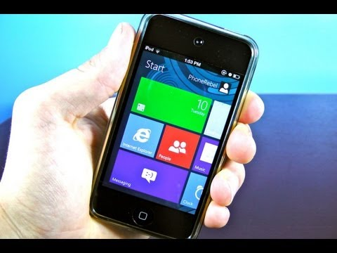 Windows 8 Metro UI on iPhone & iPod Touch - Metroon Theme for iOS 5.1.1/5.1/5.0.1/5.0