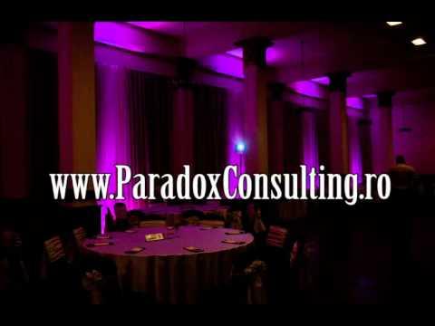 iluminare arhitecturala nunta Deva www.ParadoxConsulting.ro gobo monograme logo nunta
