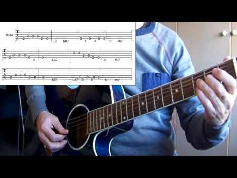 Blues con acordes de 7ª y punteo