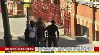 UK Police Test Terrorism Attack Response In London - SKYNEWS