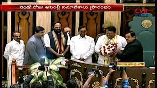 Pocharam Srinivas Reddy takeover Speaker Seat in Telangana Assembly | CVR News - CVRNEWSOFFICIAL