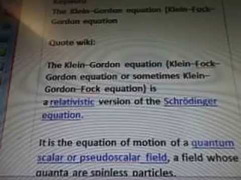 Line 22 7b285 Klein Fock Gordon Schrodinger Equation Quantum Pseudoscalar Field WOW SETI