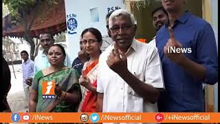 TJS Chief kodandaram Casts His Vote  | Telangana Assembly Polling 2018 | iNews - INEWS