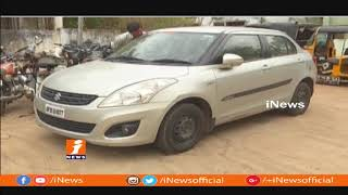 Siddepet Police Chases Car Driver Ravinder Assassination Mystery | INews - INEWS