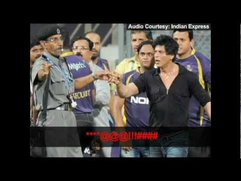 Shahrukh Khan's Fight With The MCA Security Official Recording!!
