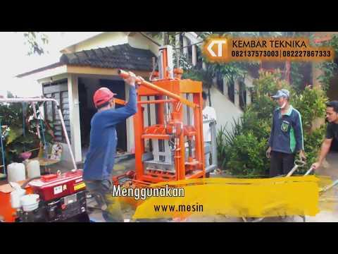 Uji Coba Mesin Cetak Paving Hidrolik-Manual