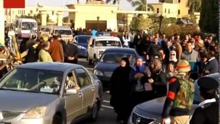 لحظة خروج جثامين ضحايا حادث سيناء من مطار الماظة