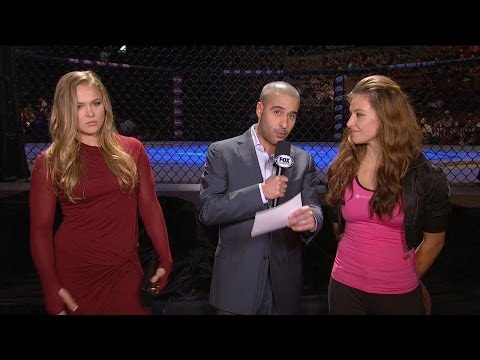 Ronda Rousey and Miesha Tate face-off at the TUF 18 Finale