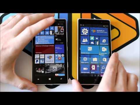 Windows Phone 8.1 versus Windows 10 Insider Preview