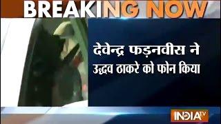 Devendra Fadnavis calls uddhav to invite swear in ceremony - INDIATV