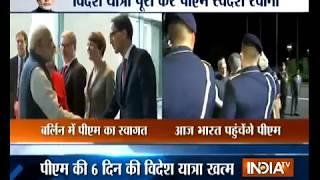 PM Narendra Modi meets German Chancellor Angela Merkel - INDIATV